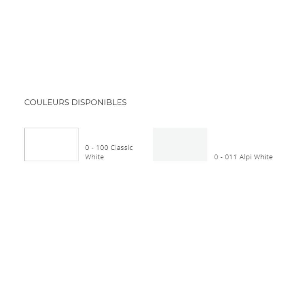 Lavabo ACRY +   BB R 5038   À coller
