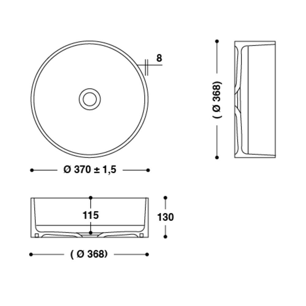 Vasque HI-MACS®   CB330C   A poser