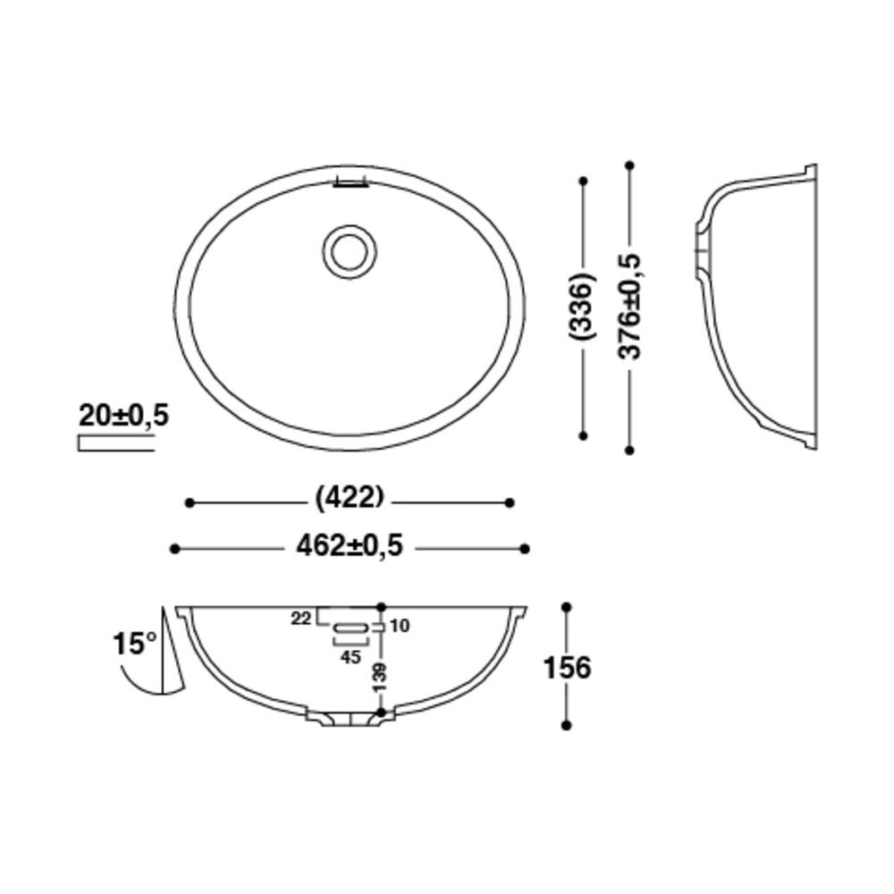 Vasque HI-MACS®   CB422   A coller