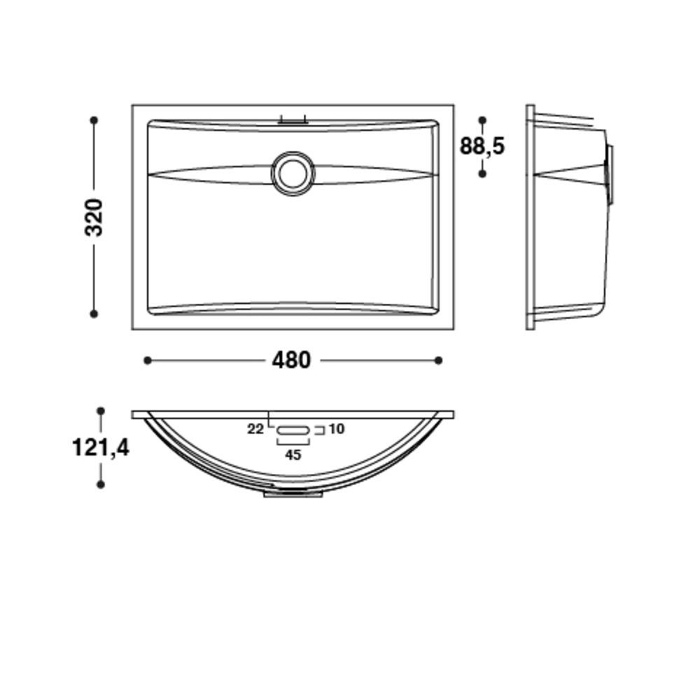 Vasque HI-MACS®   CB483   A coller