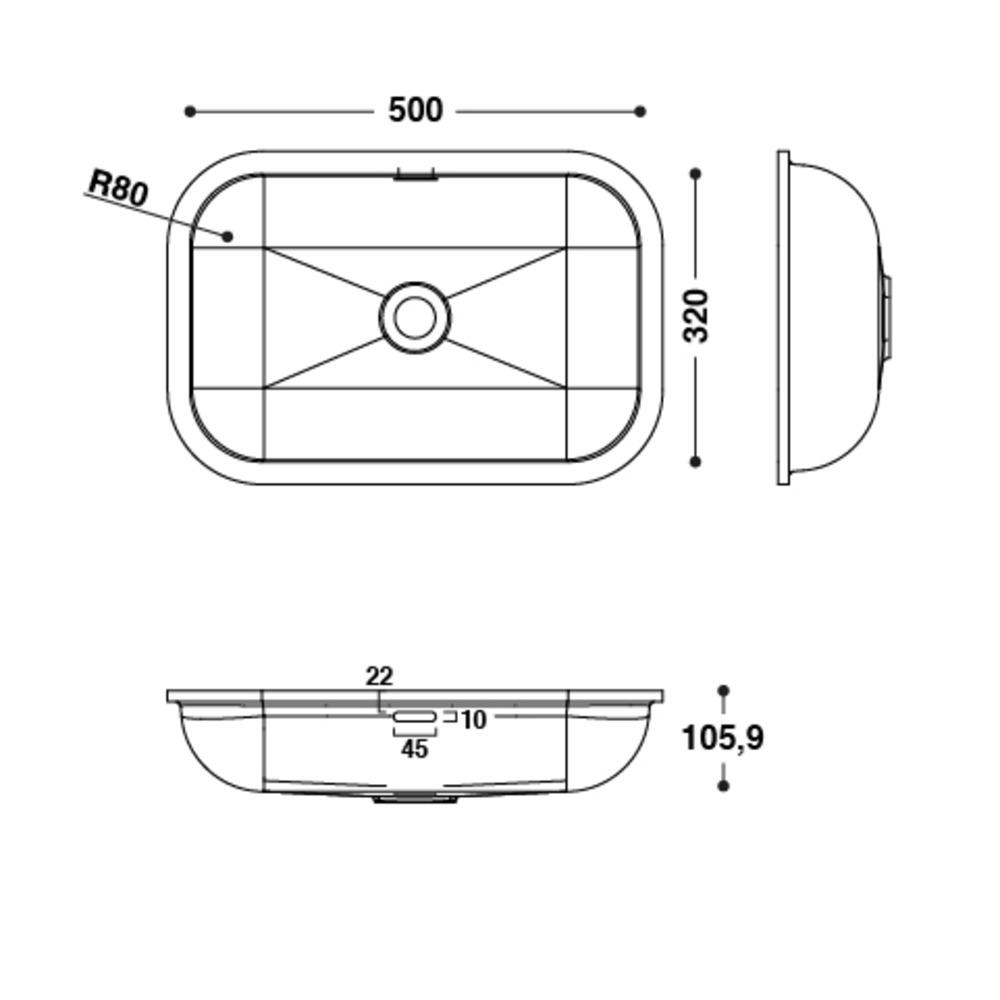Vasque HI-MACS®   CB503   A coller