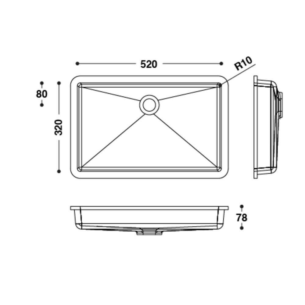 Vasque HI-MACS®   CB523   A coller