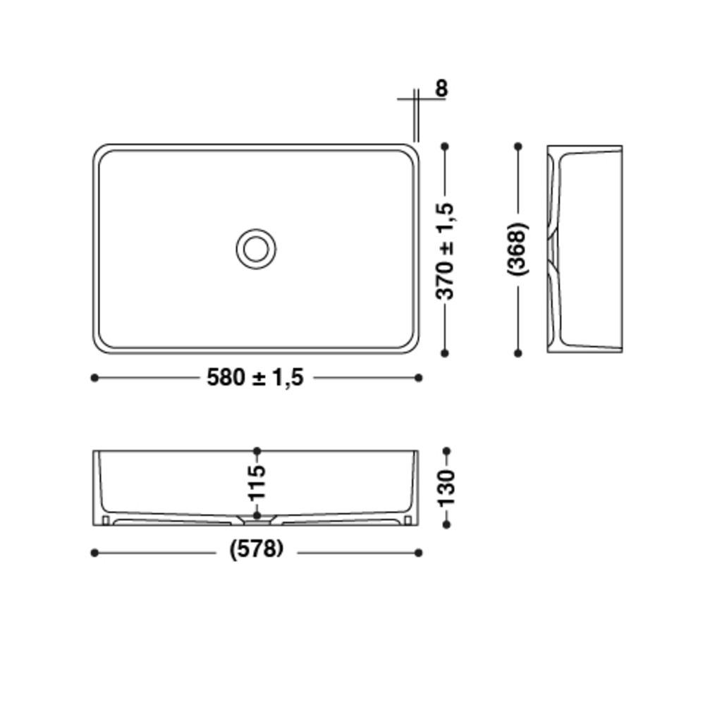 Vasque HI-MACS®   CB540R   A poser