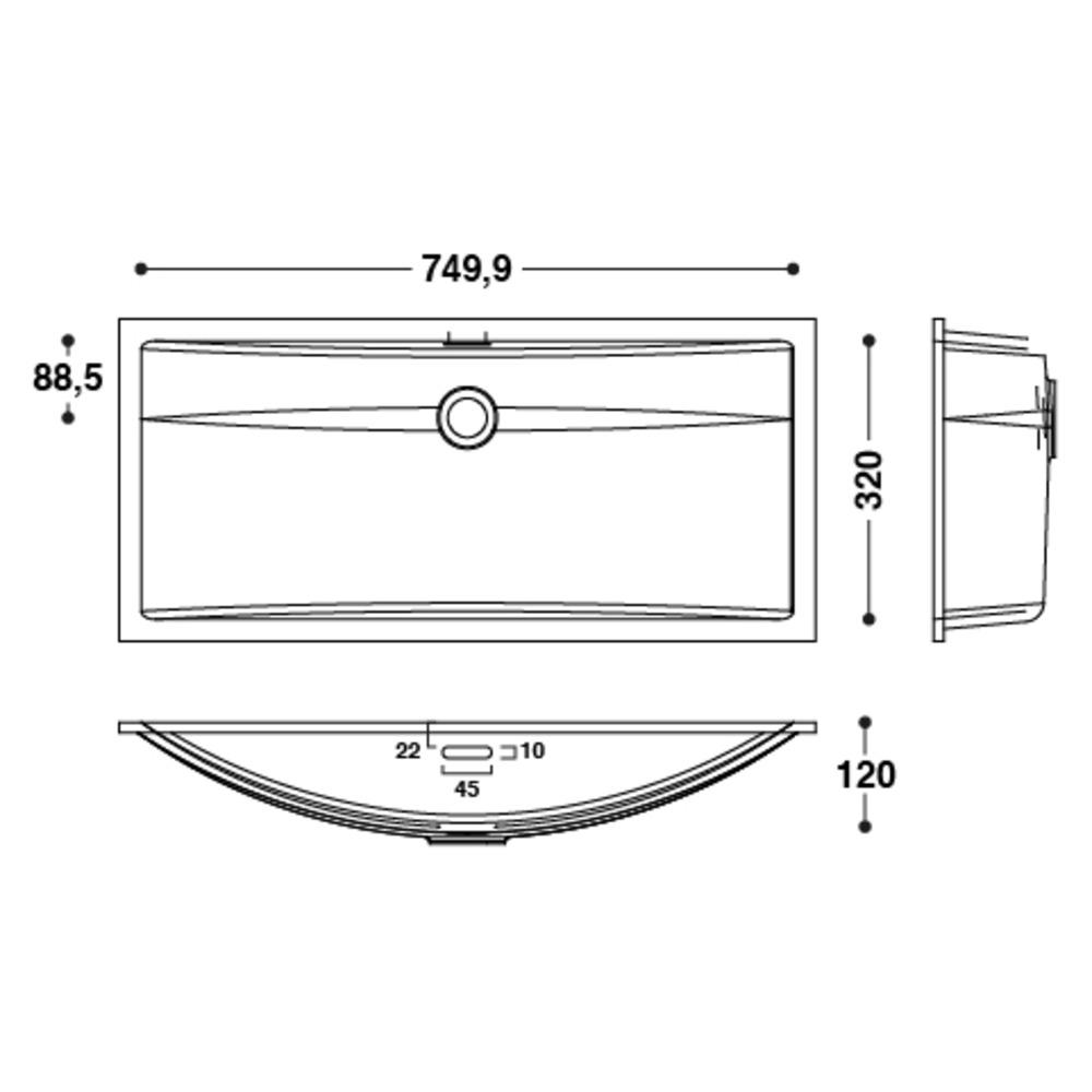 Vasque HI-MACS®   CB753   A coller