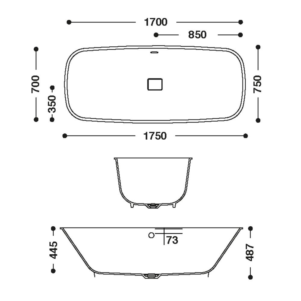 Baignoire HI-MACS®   CBT-170-70