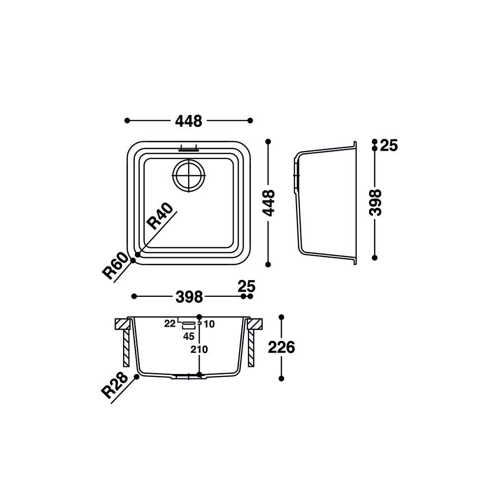 Cuve HI-MACS®   CS398S