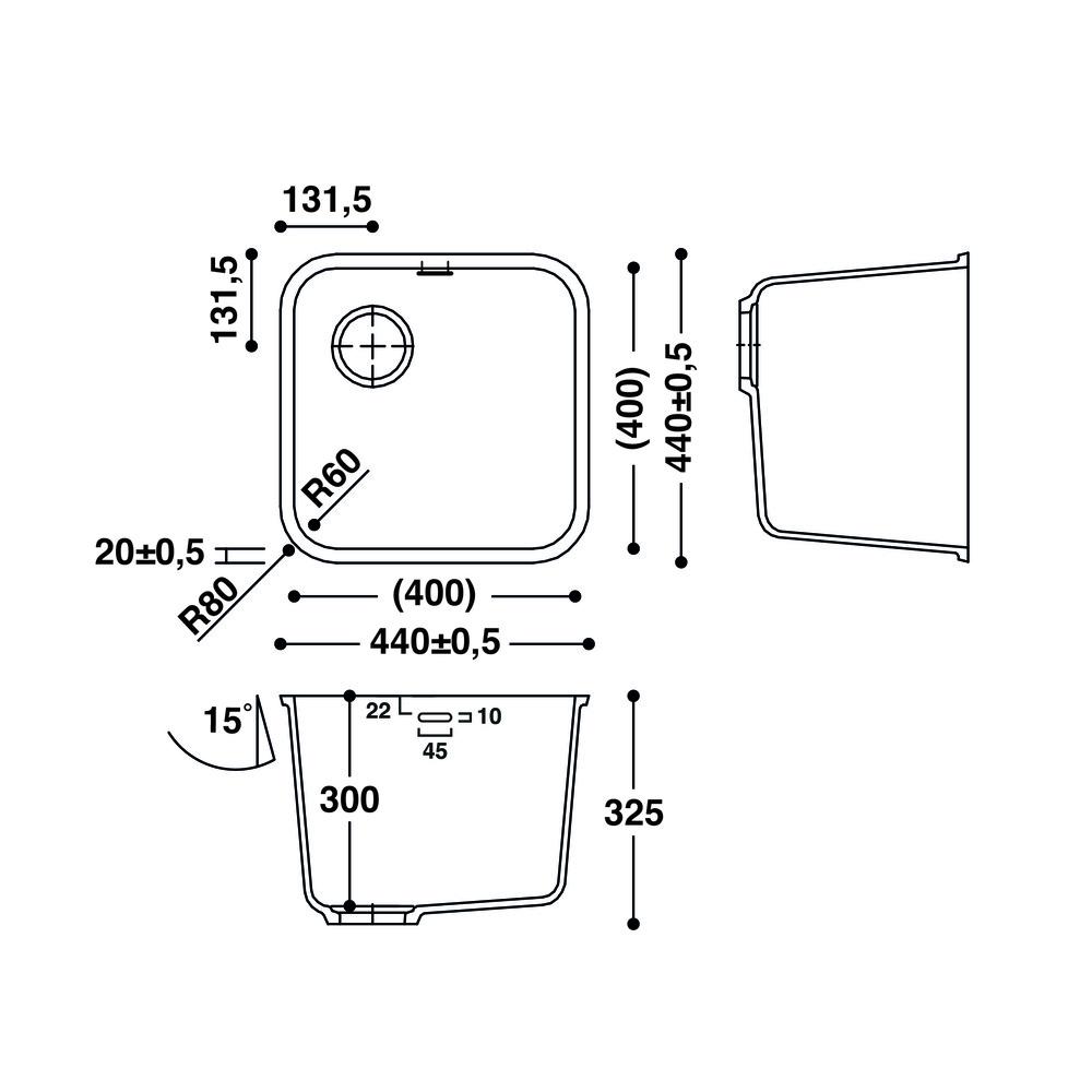 Cuve HI-MACS®   CS400S