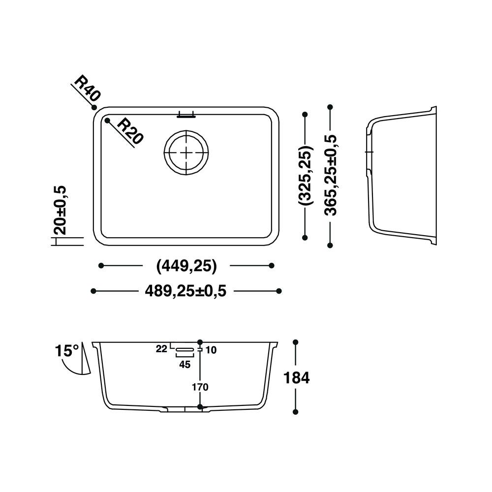 Cuve HI-MACS®   CS449RS