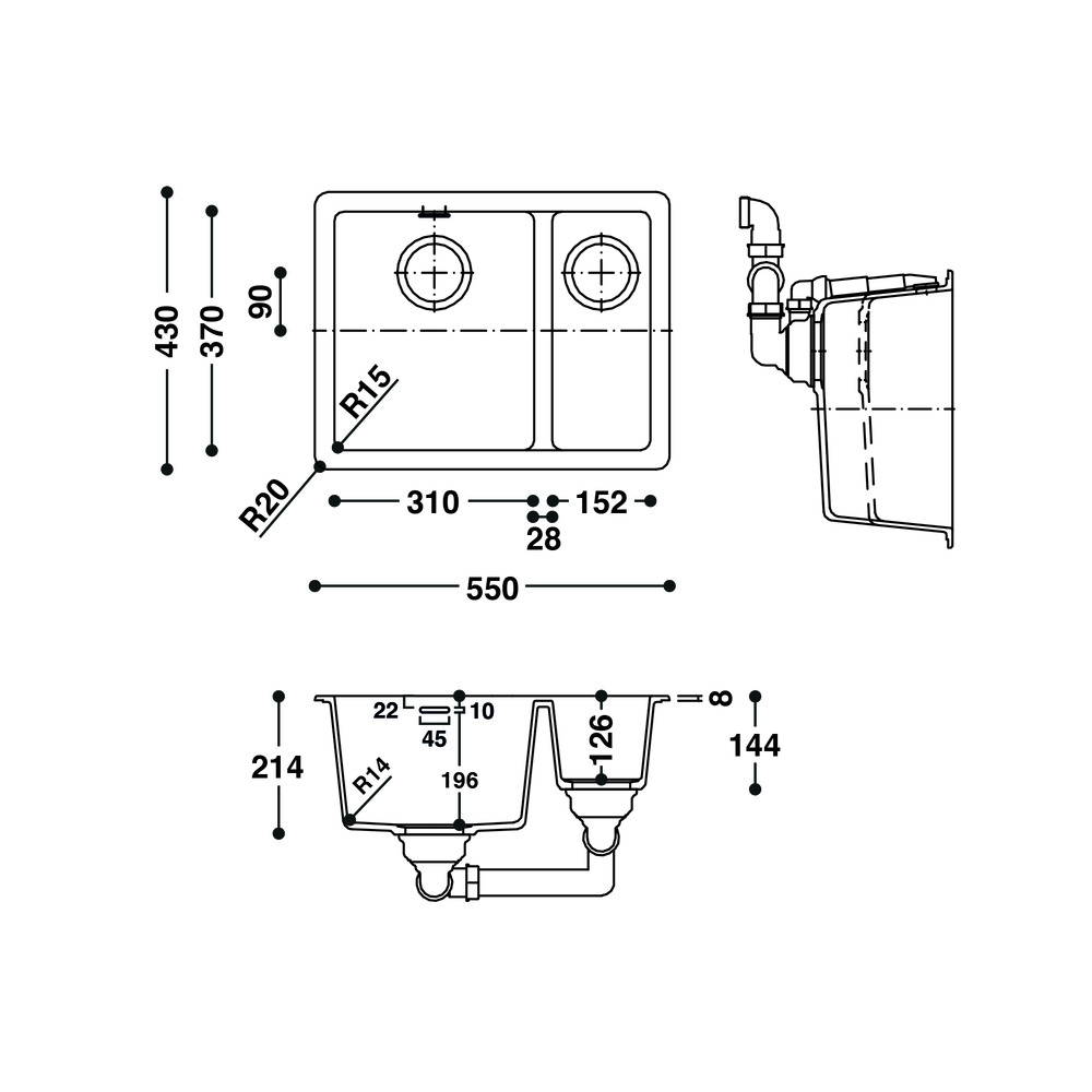 Cuve HI-MACS®   CS490D