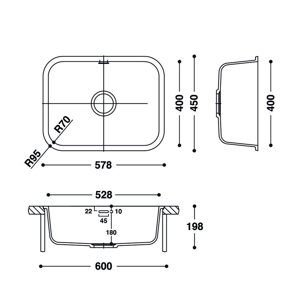 Cuve HI-MACS®   CS528R