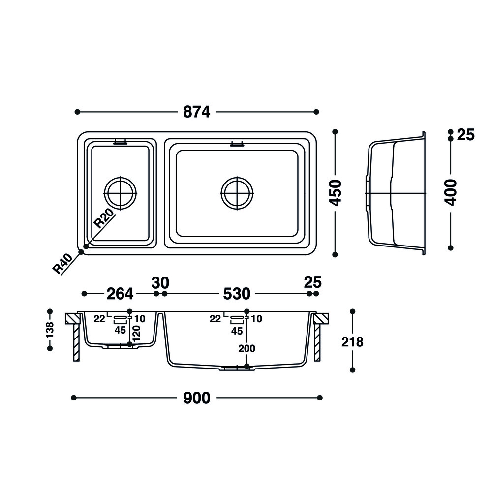 Cuve HI-MACS®   CS824D